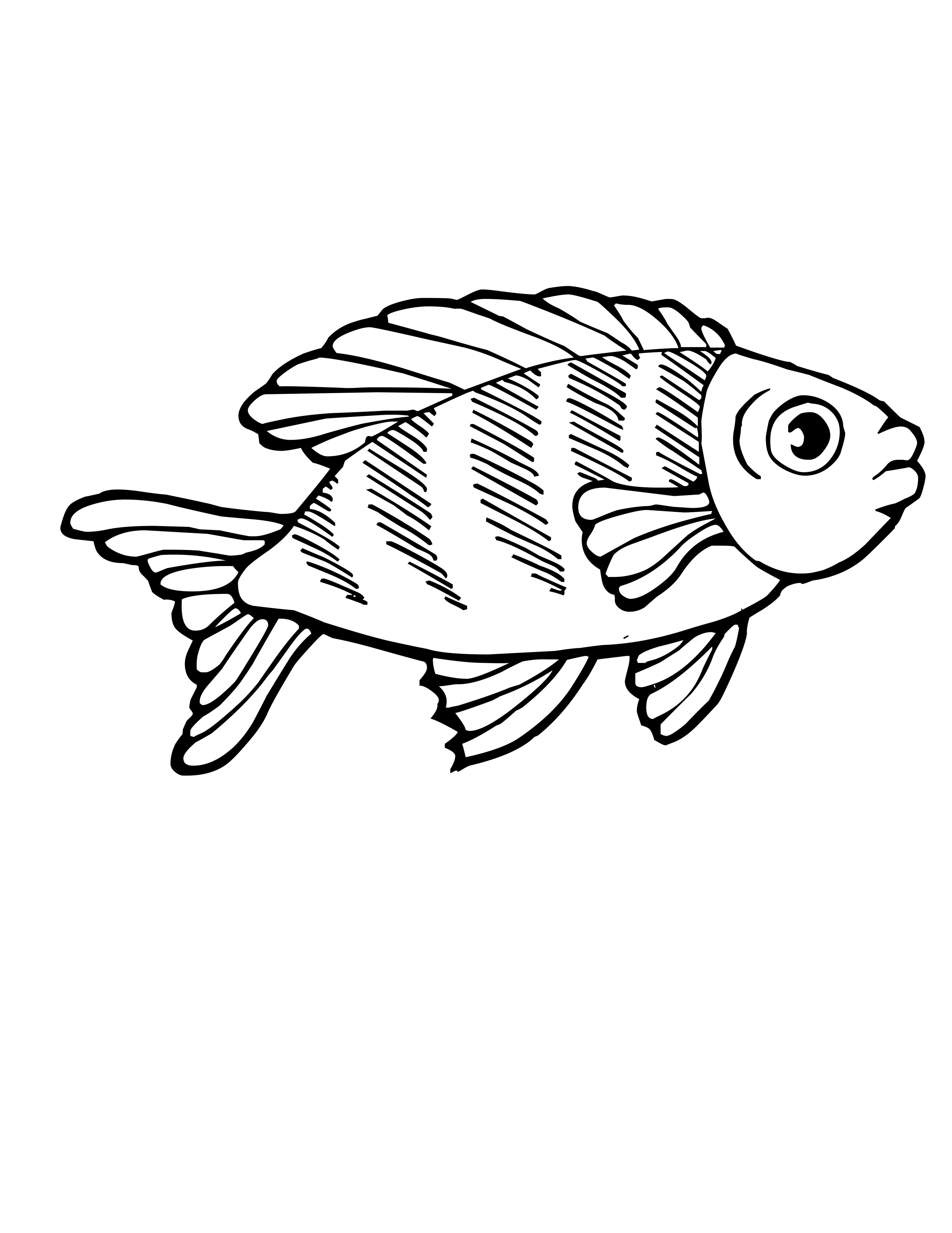 Tropical Fish Coloring Pages Clipart Panda