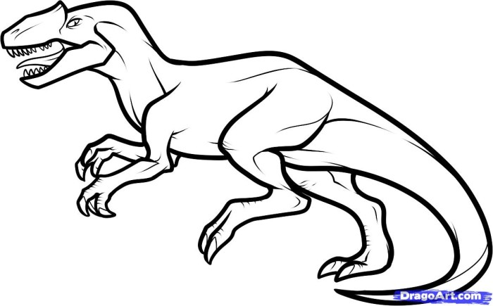 allosaurus coloring pages free printable cooloring com