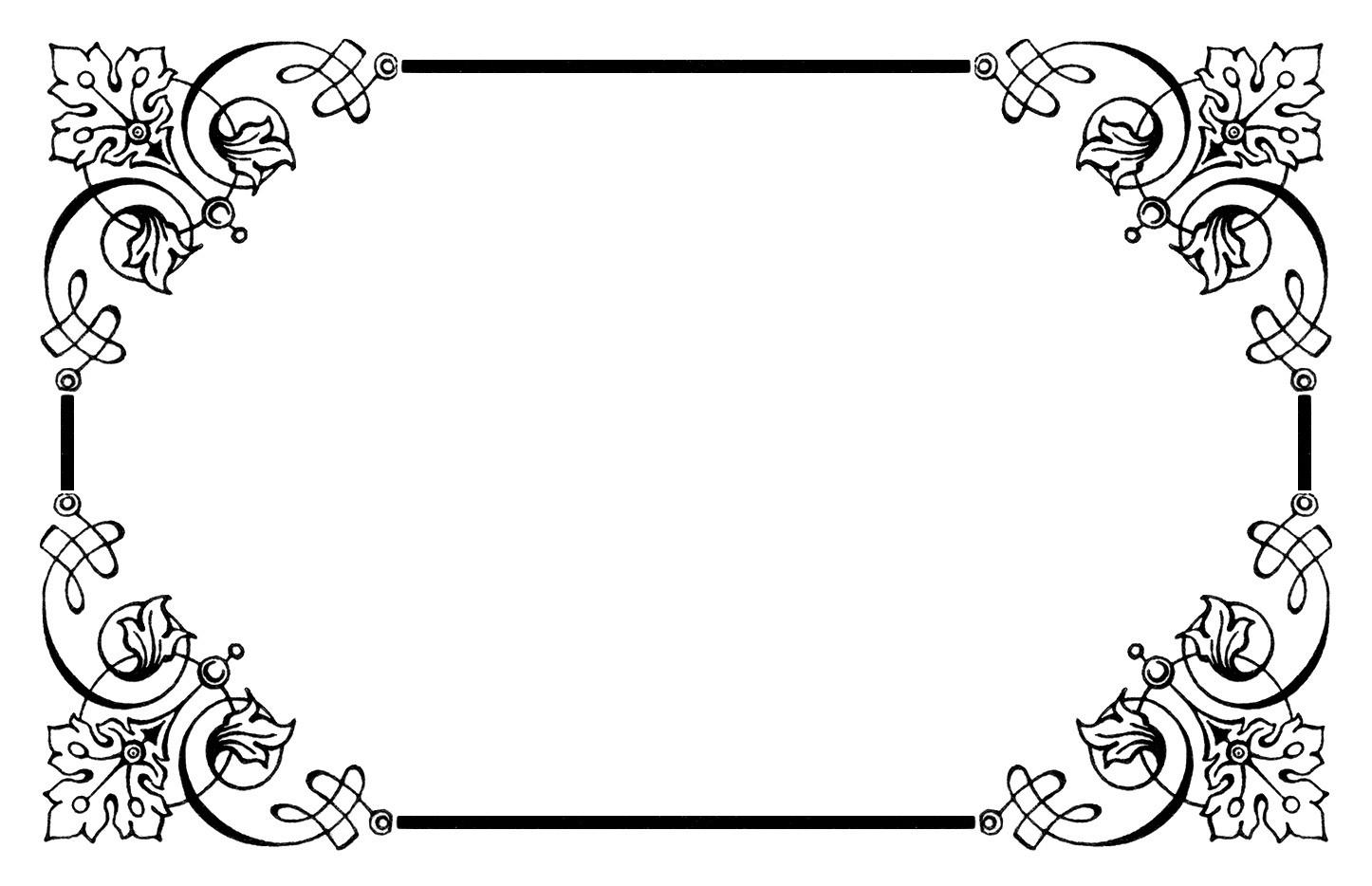 Vintage Black And White Borders
