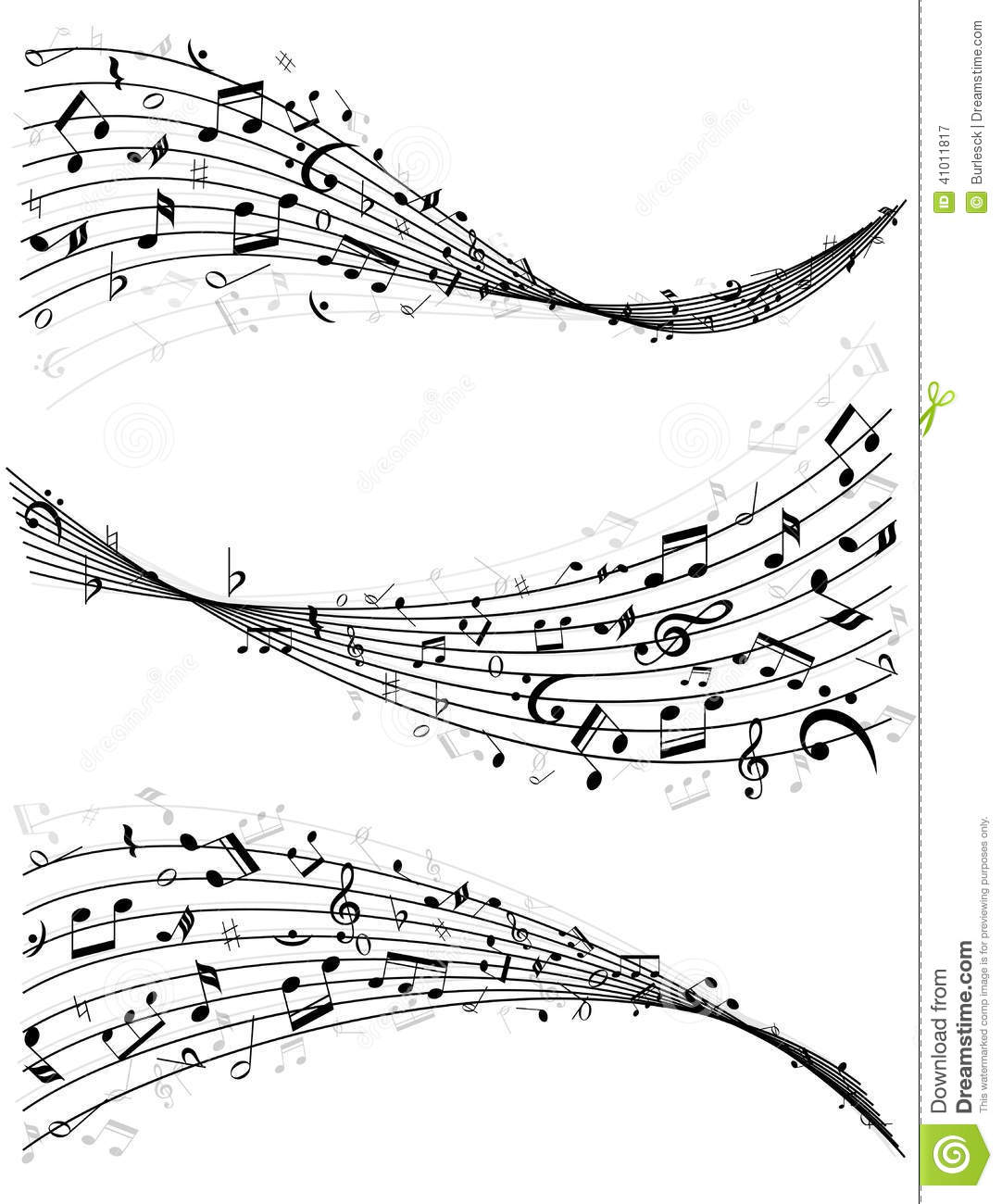 Wavy Lines Of Music Notes Clipart Panda