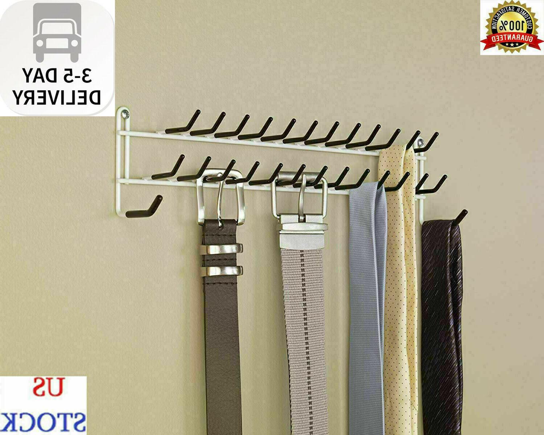 tie belt hanger rack necktie holder closet organizer scarf shelf door wall mount closet organizers home garden label qualitebenevole com