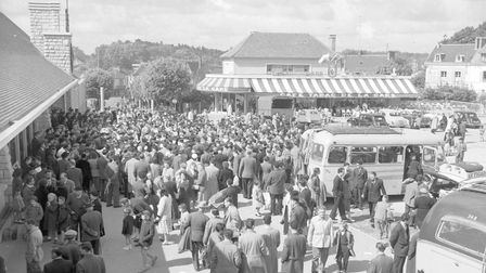 Gt. Yarmouth was twinned with Rambouillet in 1956. Photo taken in Rambouillet, France.  Dated May 1957.