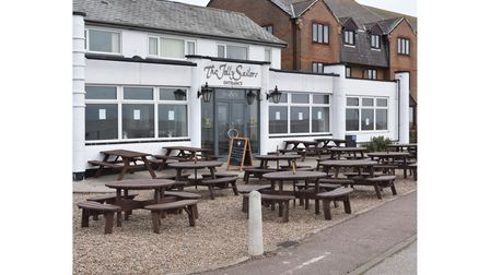 Additional tables and benches have been set up at The Jolly Sailors in Pakefield.