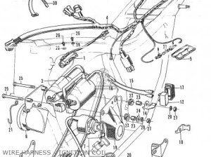 Honda CL350 SCRAMBLER 1972 K4 USA parts lists and schematics