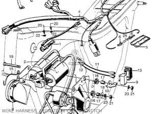 Honda Cl350 Scrambler 350 K5 1973 Usa parts list partsmanual partsfiche