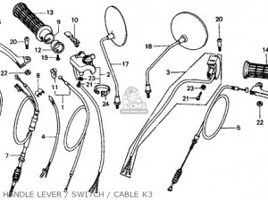 Honda Ct70 Trail 70 1974 Ct70k3 Usa parts list partsmanual