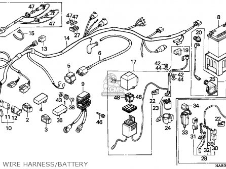 1985 Honda 250 Fourtrax Wiring Diagram