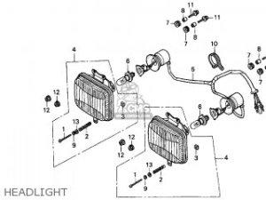 Honda TRX250 FOURTRAX RECON 1998 (W) USA parts lists and schematics
