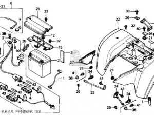Honda Trx300 Fourtrax 300 1988 (j) Usa parts list partsmanual partsfiche