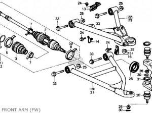 Honda Trx300fw Fourtrax 4x4 1988 Usa parts list