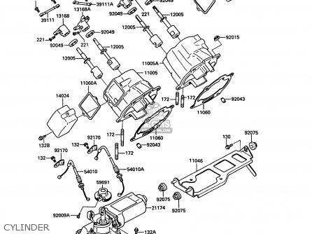 Kawasaki Kr250c3 Kr1s Europe Uk Fr Gr Parts Lists And