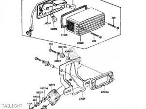 Kawasaki Kz1100a1 Shaft 1981 Usa Canada parts list partsmanual partsfiche