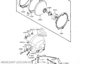Kawasaki Kz1100d1 Spectre 1982 Usa Canada parts list partsmanual partsfiche