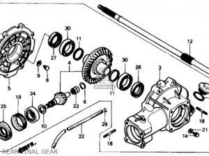 (41300ha7770) Gear Assy,rr,fin Trx350 Fourtrax 4x4 1986 (g) Usa 41300HA7670