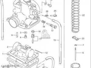 Suzuki Ds80 19962000 (usa) parts list partsmanual partsfiche