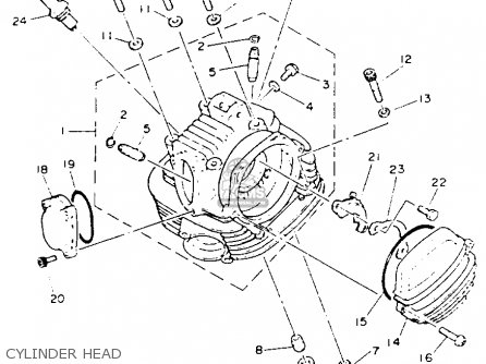 Yamaha Yfb250e Timberwolf Parts List Partsmanual