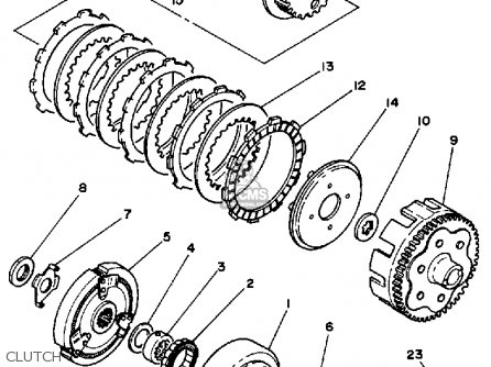 Yamaha Ytm200k Tri Moto Parts Lists And Schematics