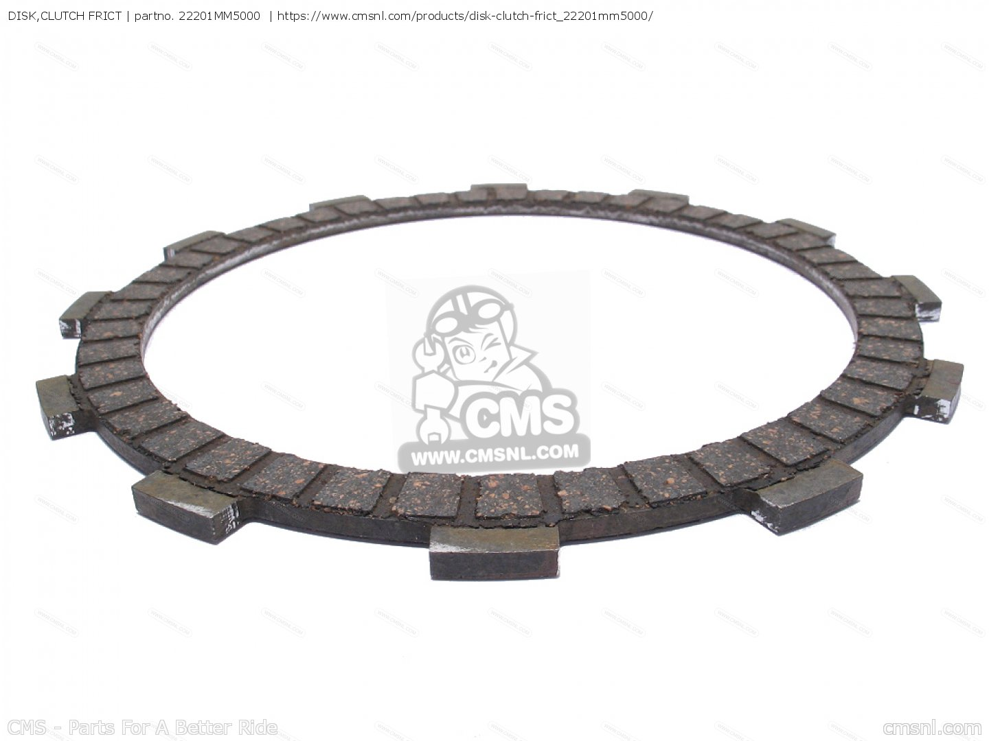 Disk Clutch Frict Vt750c Shadow D Usa Mm