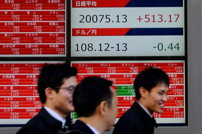 1. Asia: MSCI's broadest index of Asia-Pacific shares outside Japan ticked down 0.1 percent, slipping from a one-month high touched earlier this week, while Japan's Nikkei lost 0.3 percent. (Image: Reuters)