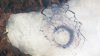 Danau Es Baikal, Siberia, Rusia