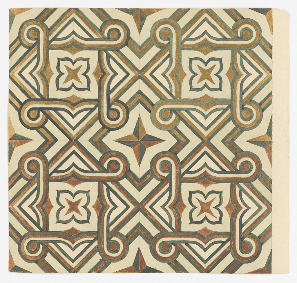 drawing ceramic tile design 1880 99 objects collection of cooper hewitt smithsonian design museum