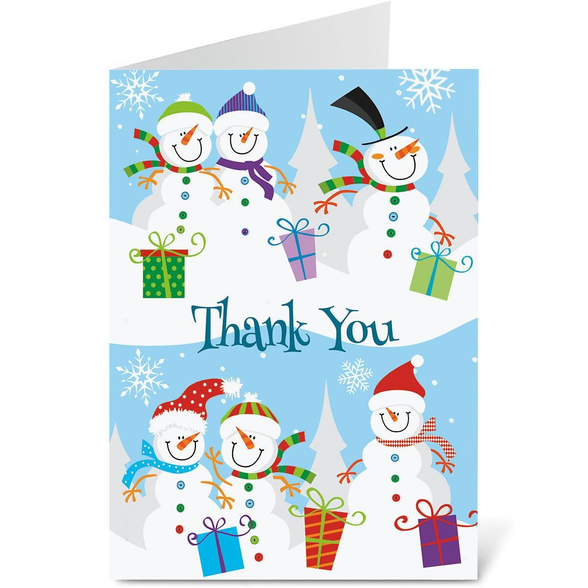 Holiday Thank You Note Cards Colorful Images