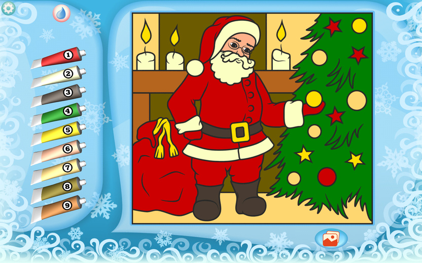 Santa Claus Coloring Page Printables Apps For Kids
