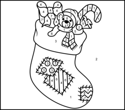 christmas stocking coloring page printables apps for kids