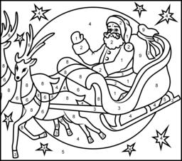 flying reindeer printable page