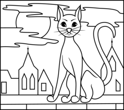 black cat coloring page printables apps for kids