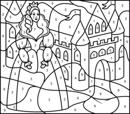 princess and castle coloring page printables apps for kids