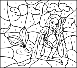 princess mermaid coloring page printables apps for kids
