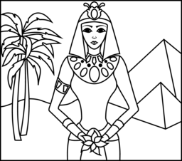 princess of egypt coloring page