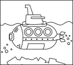 submarine coloring page printables apps for kids