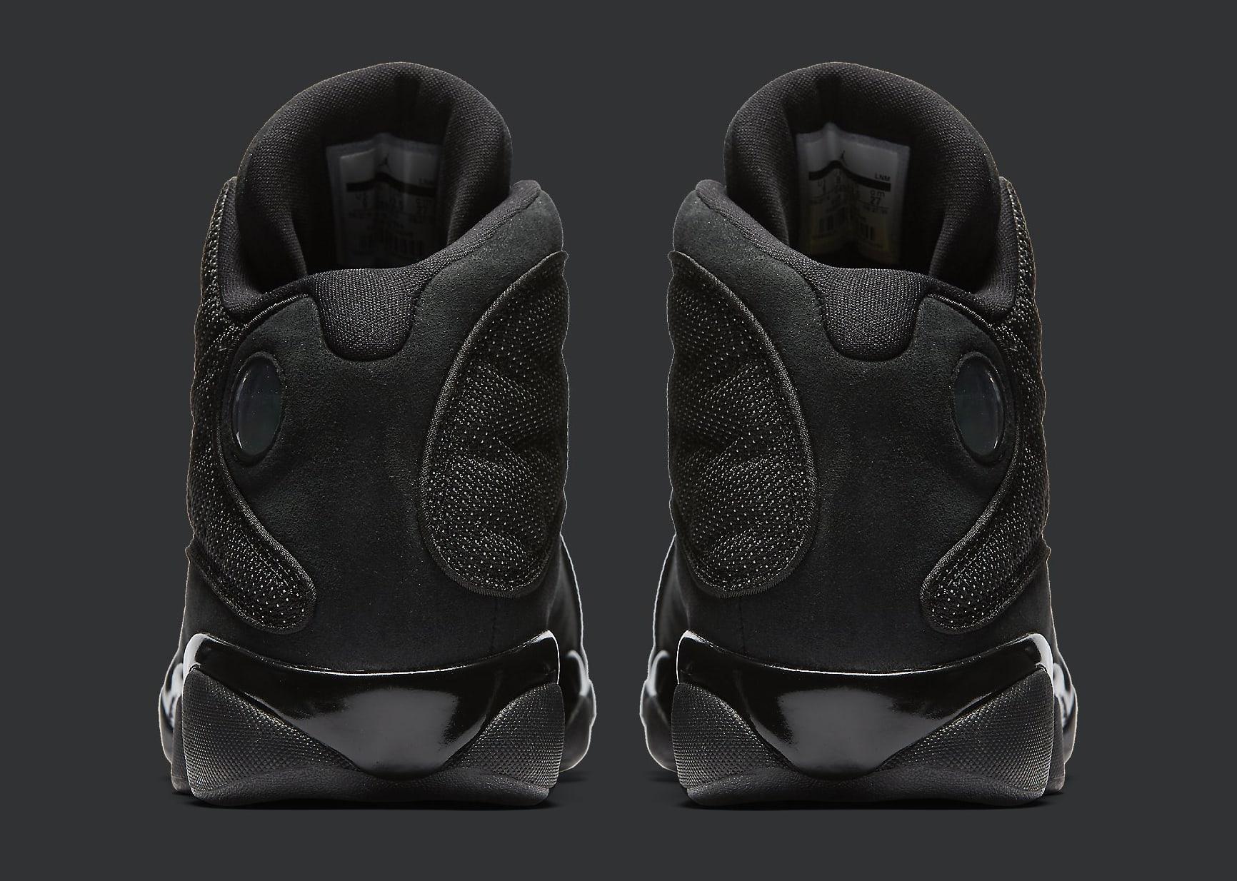 Black Cat Air Jordan 13 414571-011 Heel