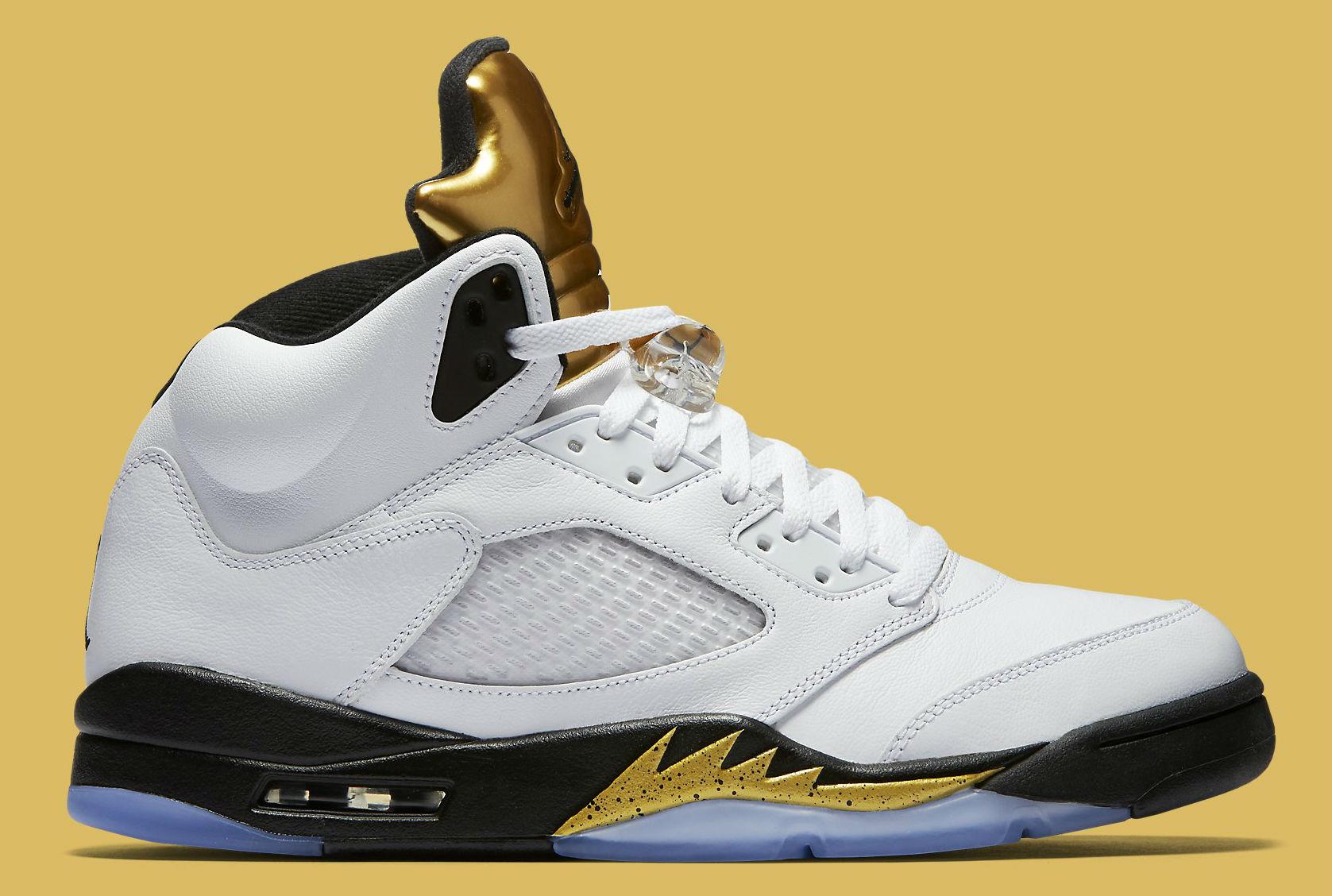 Gold Jordan 5 Release Date Side 136027-133