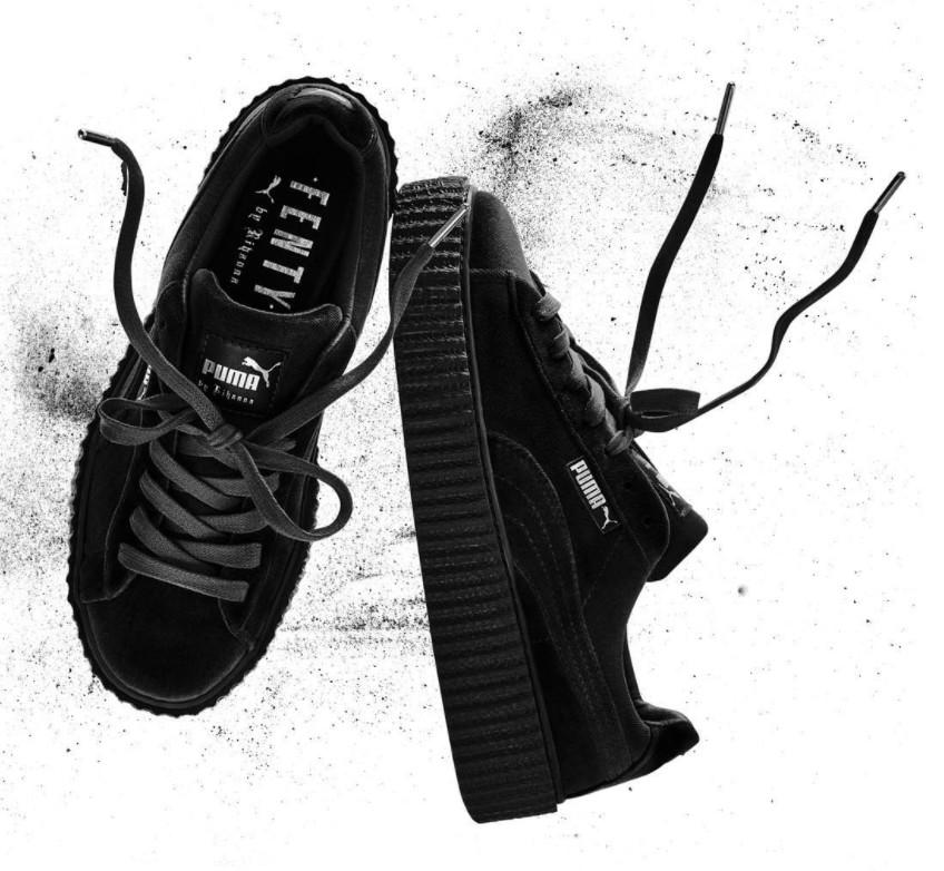 Rihanna Puma Creeper Black Velvet
