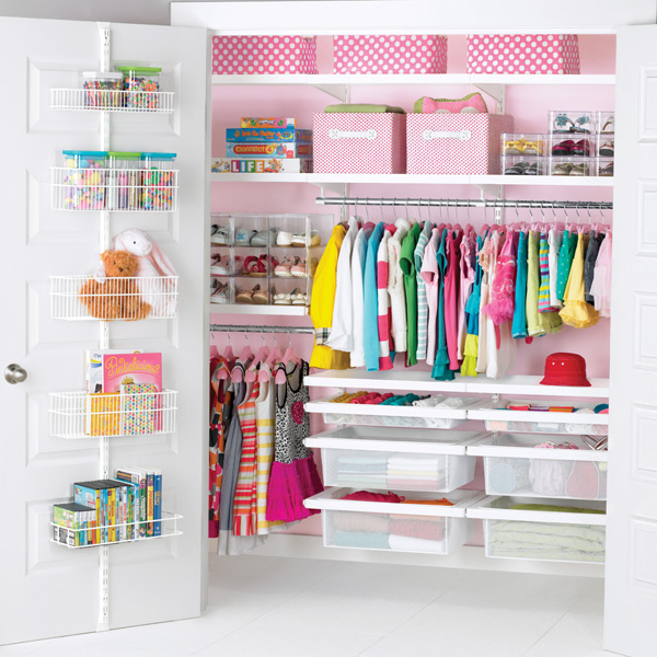 White elfa decor Girl's Reach-In Closet
