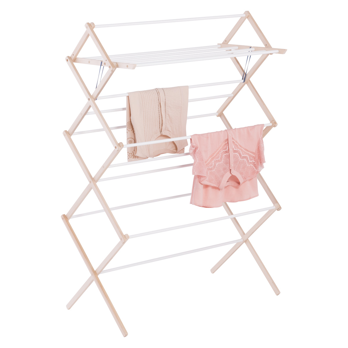 15 Dowel Wooden Clothes Drying Rack The Container Store