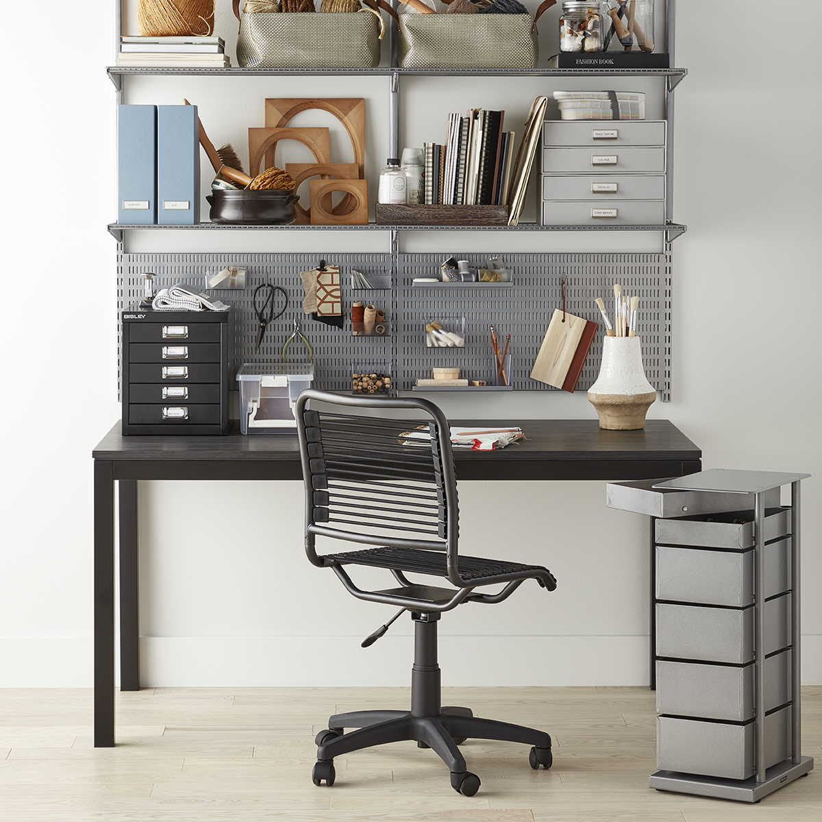 Platinum Elfa Home Office Shelving The Container Store