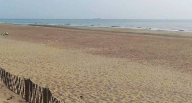 A view of Formby Beach