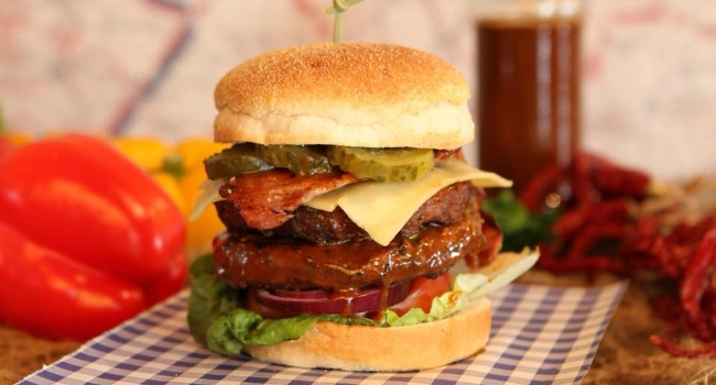 Burger from Blues Bar And Grill in Leicester