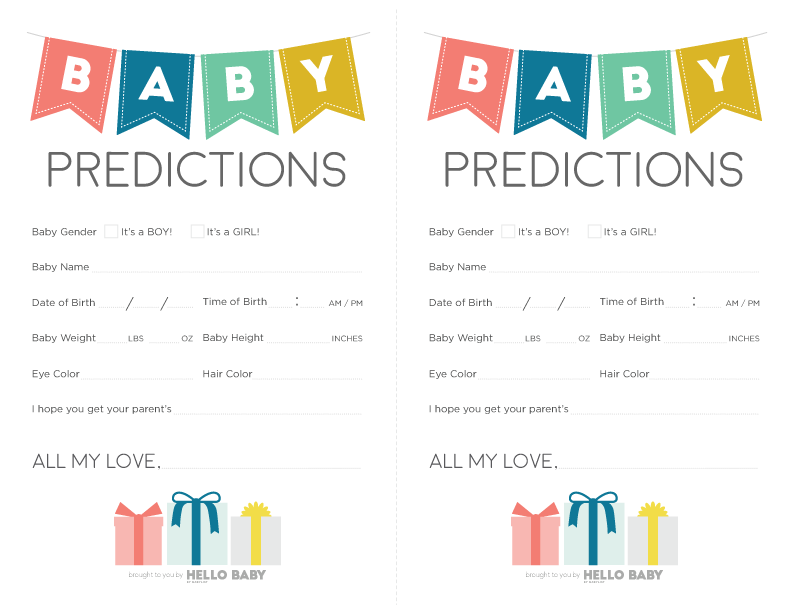 Free Baby Shower Printables That Are Actually Fun