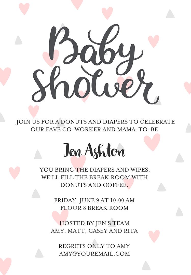 Office Baby Shower Wording