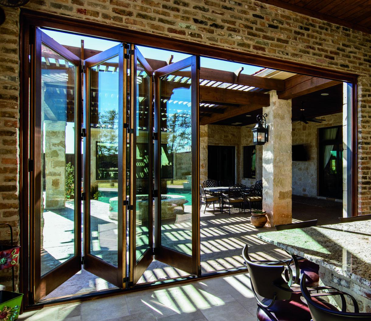 pella architect series traditional bifold patio door