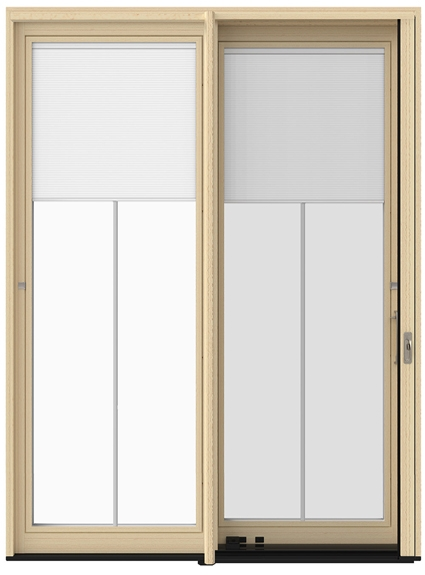 the glass blinds for patio doors
