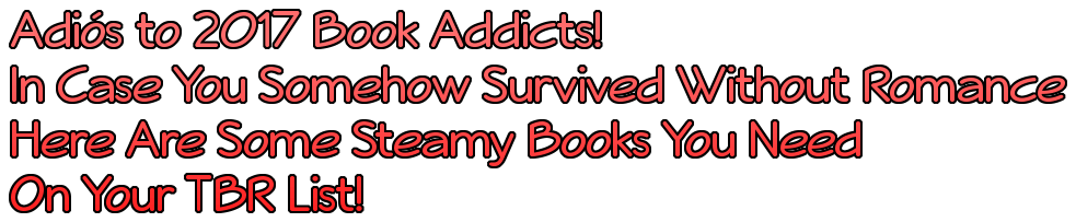 Adiós to 2017 Book Addicts! In Case You Somehow Survived Without Romance Here Are Some Steamy Books You Need On Your TBR List!