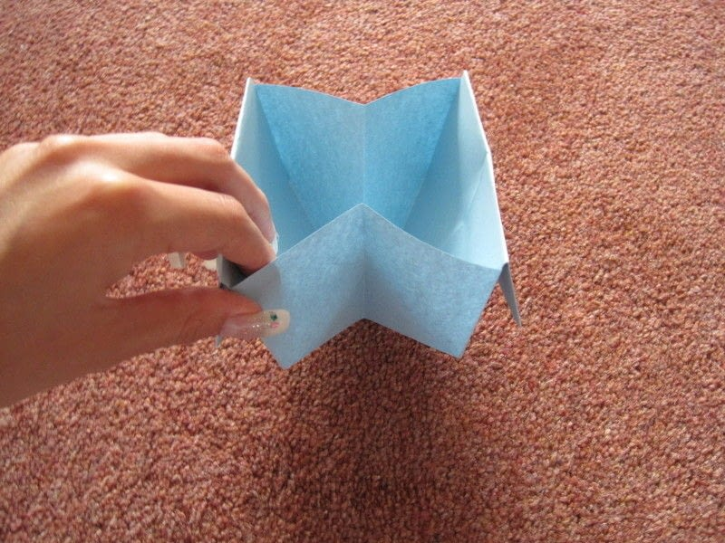 Quick Origami Disposable Trash Box How To Fold An