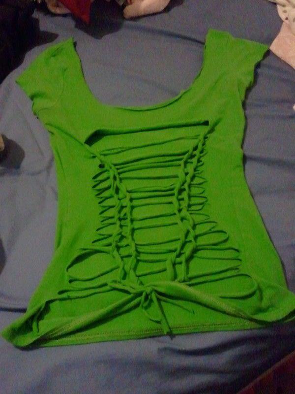 Diy Shirt Cuts 183 A Shredded Top 183 Creation By Cheyenne A