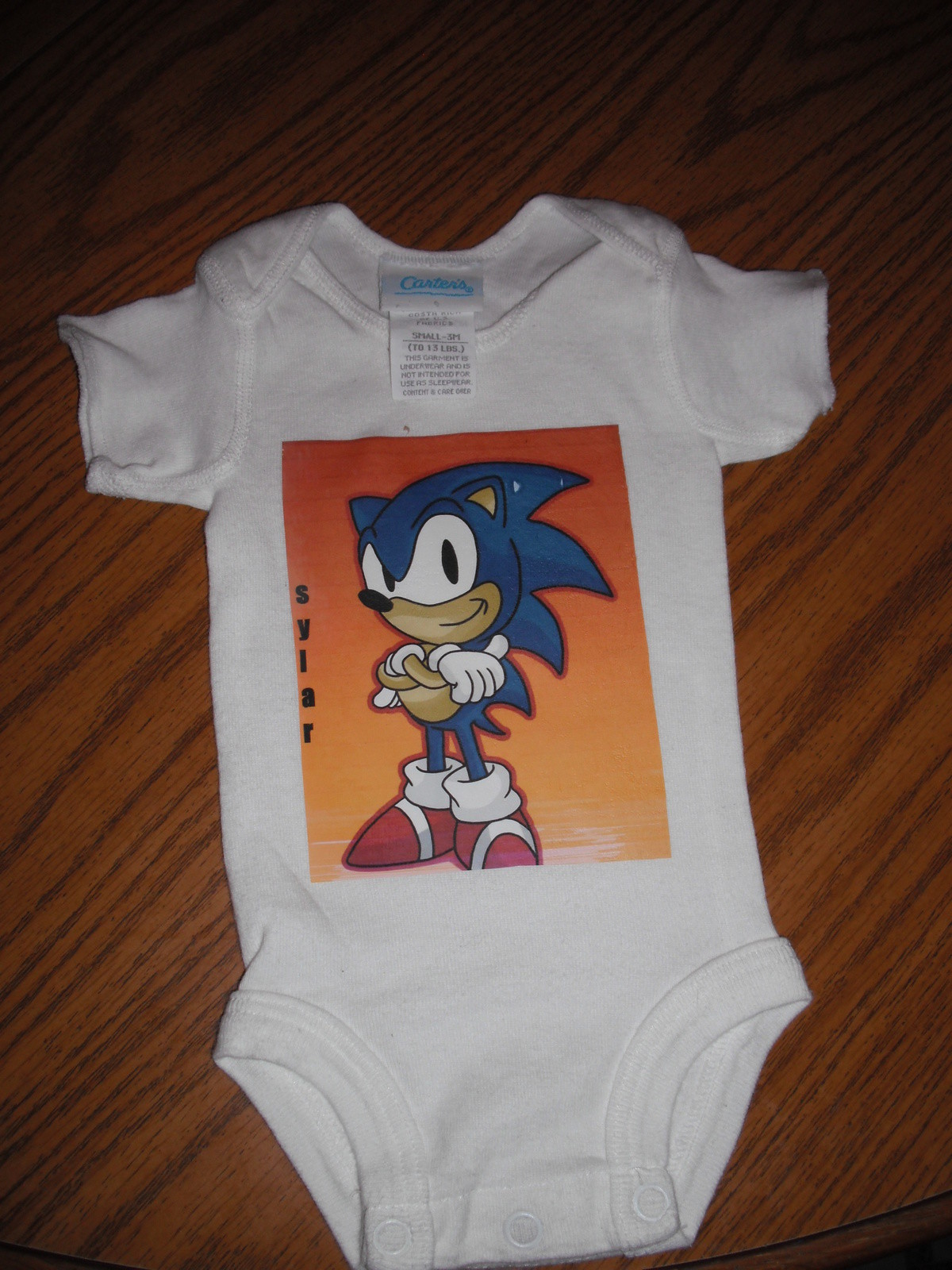 Sonic Baby Onzie 183 A Baby Onesie 183 Transfers Art And